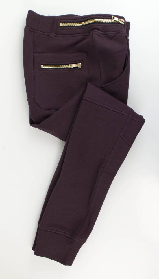 Balmain Men's Burgundy Cotton Leggings Biker Pants Size Large Size US 36 / EU 52