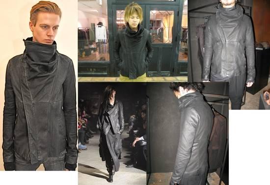 Julius Greige Nubuck Asymmetric Cowl Neck Leather Jacket Size US S / EU 44-46 / 1 - 4