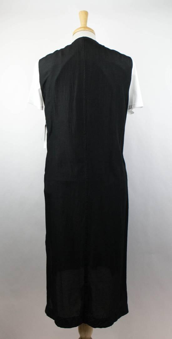 Julius 7 Men's Black Silk Blend Long Vest Size 3/M Size US M / EU 48-50 / 2 - 3