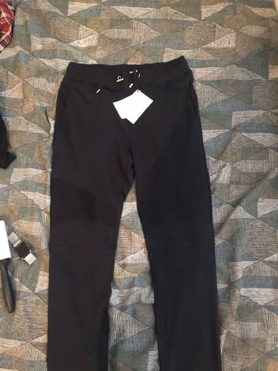 Balmain Navy Balmain Rib Joggers Size US 29 - 3