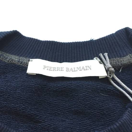 Balmain Distressed Navy French Terry Sweatshirt NWT Size US XL / EU 56 / 4 - 3