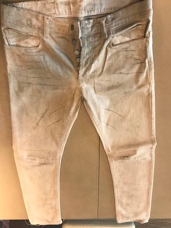 "Balmain FW11 Decarnin ""Dirty"" Skinny Jeans (dirty white/tan Color) Size US 30 / EU 46"