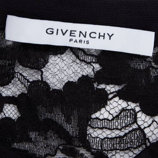 Givenchy GIVENCHY TISCI black sheer lace Pervert 17 patched football jersey top IT38 M Size US M / EU 48-50 / 2 - 10