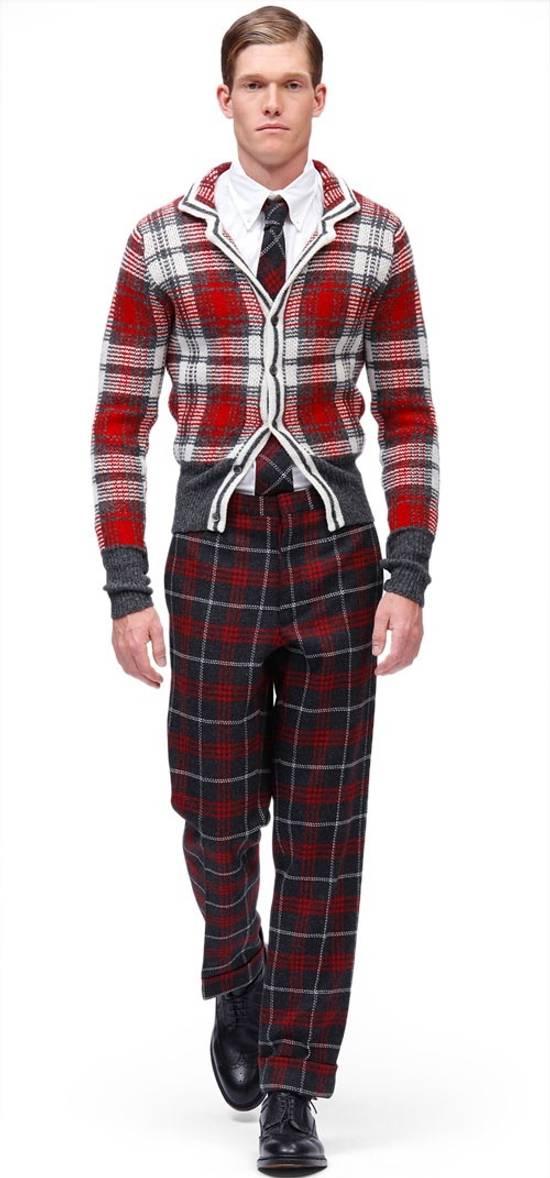Thom Browne Wool Plaid Cardigan Jacket Size BB3 VERY RARE Size US L / EU 52-54 / 3 - 1