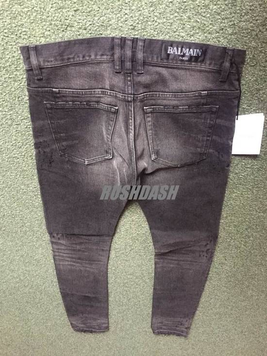 Balmain Black Distressed Faded Skinny Jeans(Made in Japan) Very Rare! Size US 30 / EU 46 - 1