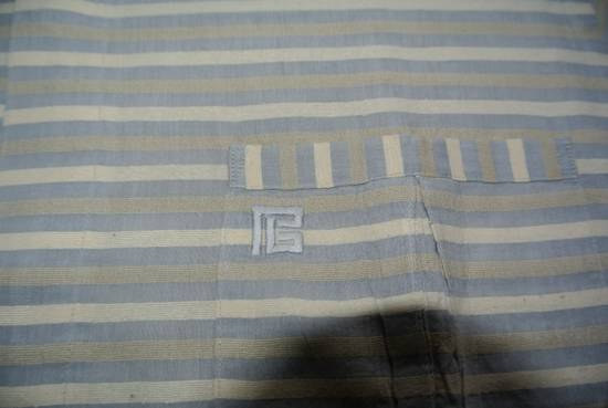 Balmain Balmain vintage 90's shirt Stripes stripped Grey Beige cream made in Japan size XS Size US XS / EU 42 / 0 - 1