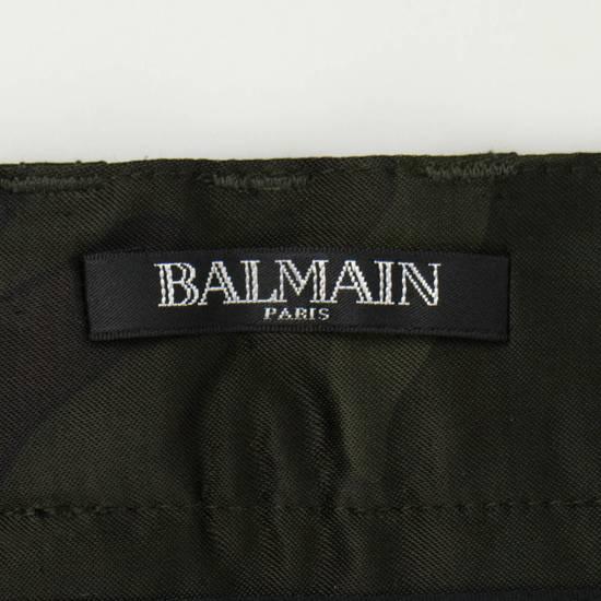 Balmain Men's Green Cotton Blend Camouflage Biker Pants Size S Size US 32 / EU 48 - 8