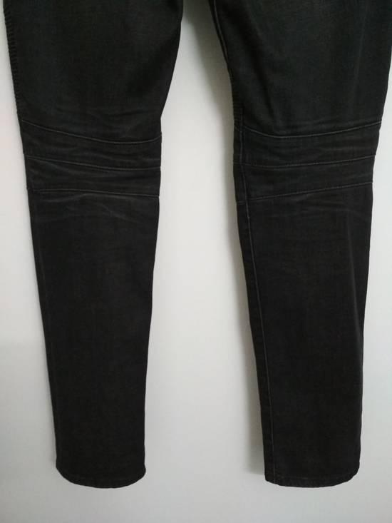 Balmain Authentic BALMAIN Dark Grey Slim Biker Stretch Denim Jeans Made in Italy Size US 32 / EU 48 - 6