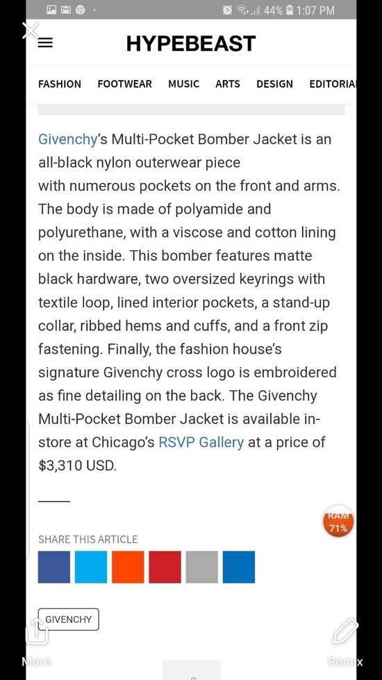 Givenchy Givenchy multipocket bomber jacket Size US M / EU 48-50 / 2 - 7