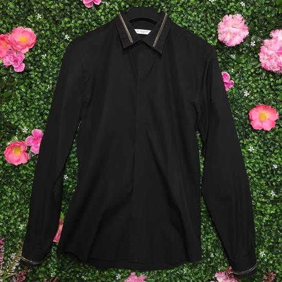 Givenchy Black Zipper Collar/Cuff Dress Shirt Size US XXS / EU 40