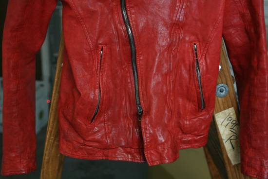 Julius FW09 'protectionism' Red Lambskin Rider Size 2 Size US S / EU 44-46 / 1 - 6