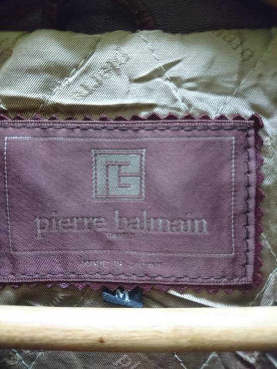 Balmain Pierre bailmain leather two tone colour jacket Size US L / EU 52-54 / 3 - 3