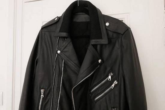 Balmain AW15 black leather biker jacket Size US L / EU 52-54 / 3 - 3