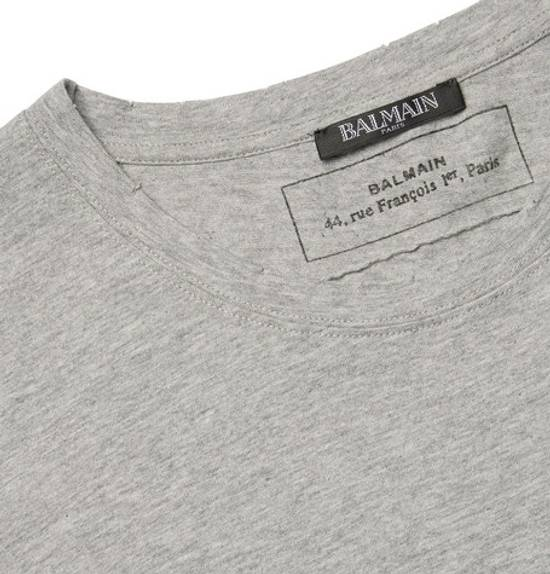 Balmain Heather Grey T-Shirt Size US M / EU 48-50 / 2 - 1
