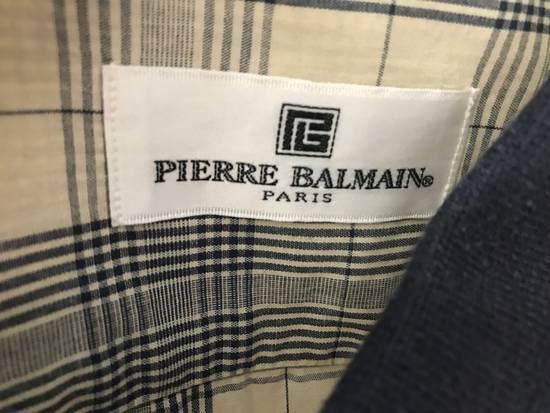 Balmain Vintage Shirt Pierre Balmain Burrbery Motif Authentic Size US M / EU 48-50 / 2 - 3