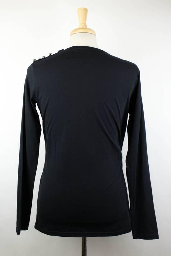 Balmain Black Lion Embroidered Long Sleeve Crewneck T-Shirt M Size US M / EU 48-50 / 2 - 2