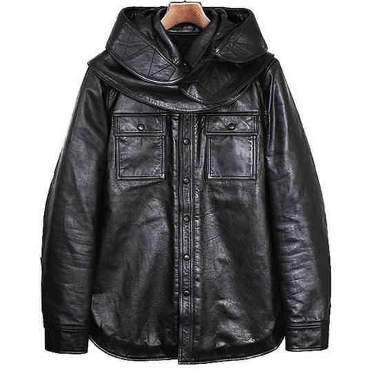 Givenchy Final price AW10 oversized hood leather jacket Size US S / EU 44-46 / 1 - 1