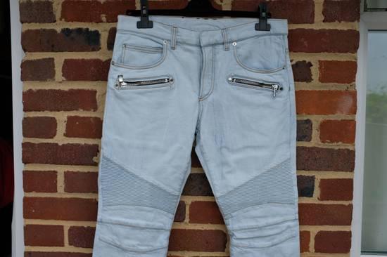 Balmain Light Blue Biker Jeans Size US 34 / EU 50 - 4