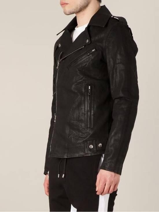 Balmain Waxed denim perfecto biker jacket Size US M / EU 48-50 / 2 - 3