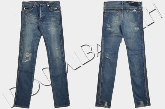 Balmain Distressed Slim Fit Skinny Blue Jeans Size US 31 - 1
