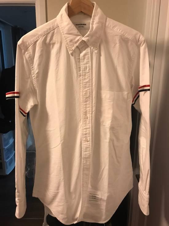 Thom Browne Grosgrain Armband Oxford Shirt Size US M / EU 48-50 / 2