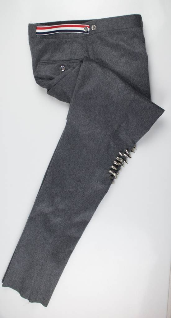 Thom Browne Gray Cashmere W/ Metal Spikes Casual Pants Size US 38 / EU 54