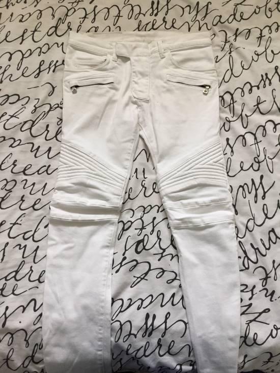 Balmain Balmain White Biker Jeans Size US 29