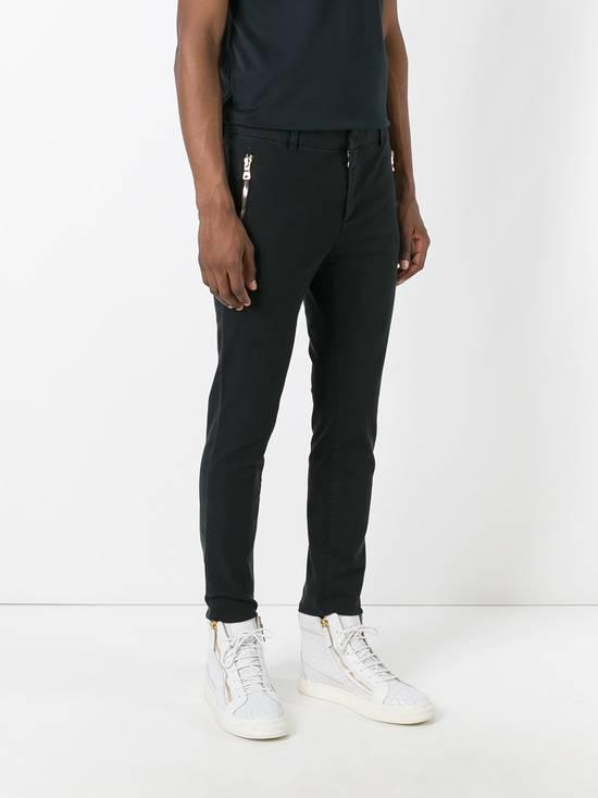 Balmain Black Zip Detail Chinos Size US 32 / EU 48 - 2