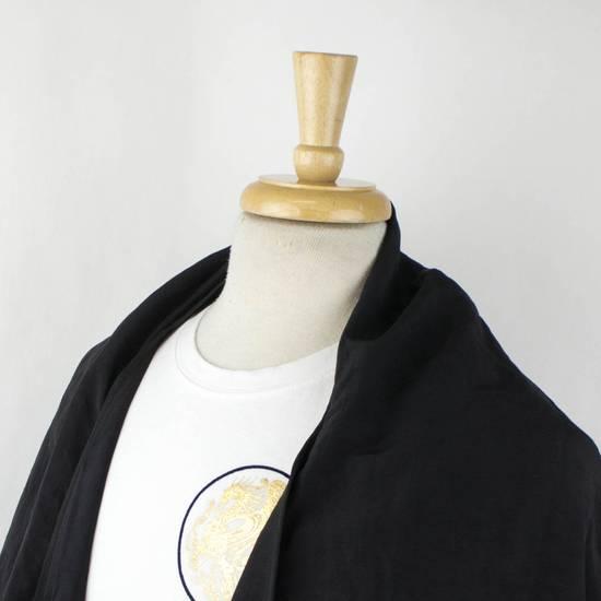 Julius Black Linen Blend 'Kimono Sleeve Long' Trench Coat 2/S Size US S / EU 44-46 / 1 - 4