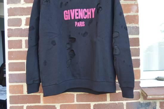 Givenchy Destroyed Fuchsia Logo Hoodie Size US L / EU 52-54 / 3 - 4