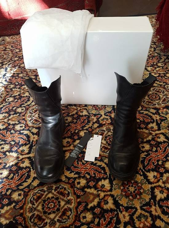 Julius Black Coated Calf High-zip Boots Size2 Size US 9.5 / EU 42-43 - 2