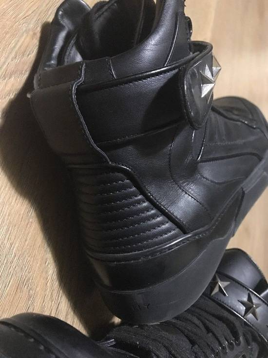Givenchy Black Leather Tyson Star Hi Top Sneakers Size 9 UK 43 Silver Calf Boots Size US 9.5 / EU 42-43 - 11