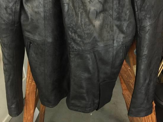 Julius SS17 Treated Lambskin Funnel Neck Jacket Size US L / EU 52-54 / 3 - 8