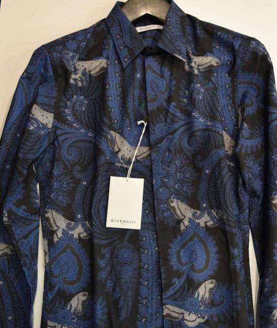 Givenchy Givenchy Authentic $750 Floral Navy Shirt Size 40 Brand New With Tags Size US L / EU 52-54 / 3