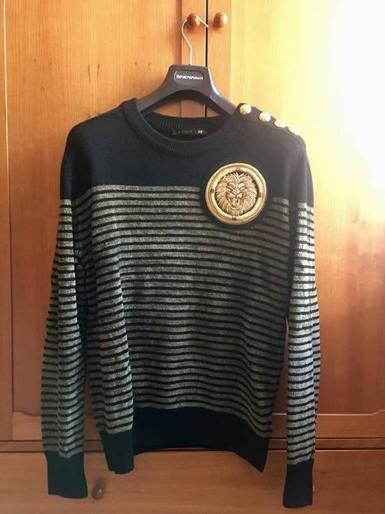 Balmain Embroidered Lion Sweater Size US L / EU 52-54 / 3