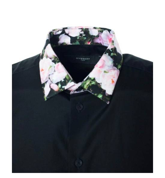 Givenchy Givenchy Mens Black W/ Floral Collar Button Down Size US M / EU 48-50 / 2