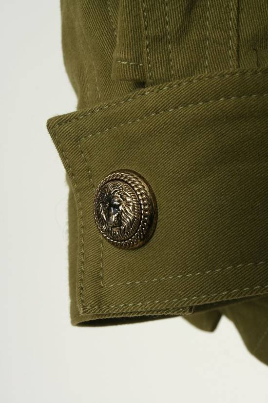 Balmain BALMAIN Pre14 army green stretch military zip up oversized jacket FR40 US8 UK12 Size US M / EU 48-50 / 2 - 9