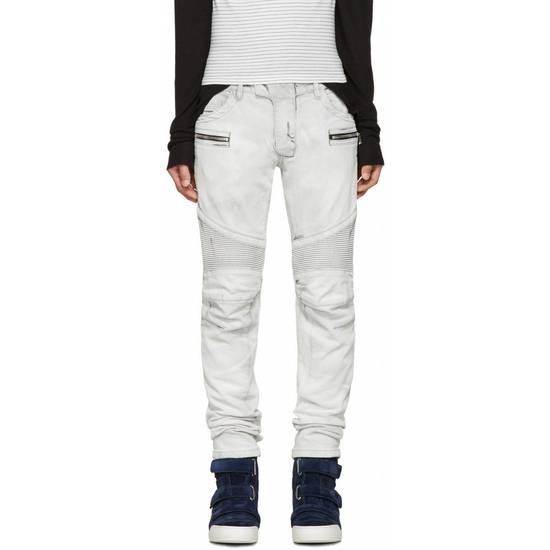 Balmain BNWT Balmain Gray Biker Jeans size 35 Size US 35