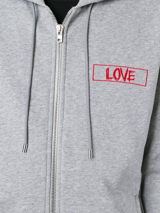 Givenchy $1050 Givenchy Grey Love Embroidered Zip Rottweiler Shark Hoodie size XS (S) Size US S / EU 44-46 / 1 - 5
