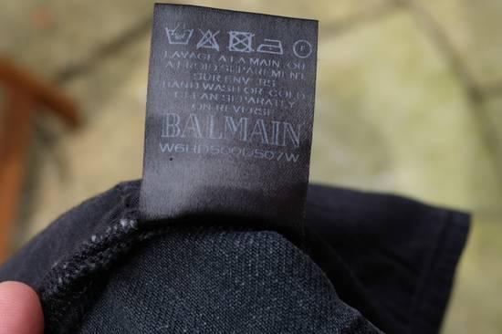 Balmain Black Waxed Biker Jeans Size US 28 / EU 44 - 10