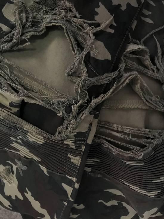 Balmain Size 36 - Heavily Distressed Camo Biker Jeans - FW17 - RARE Size US 36 / EU 52 - 9
