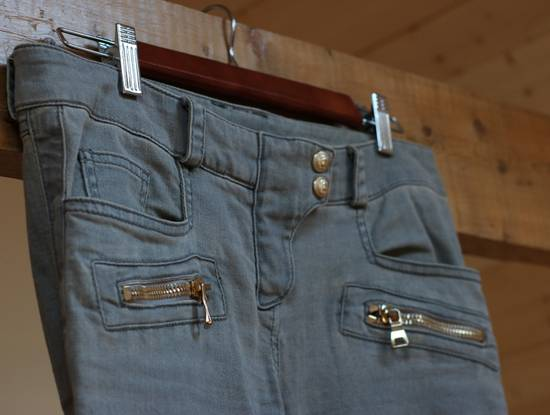 Balmain Stretch Denim Cotton Biker Jeans Size US 26 / EU 42 - 2
