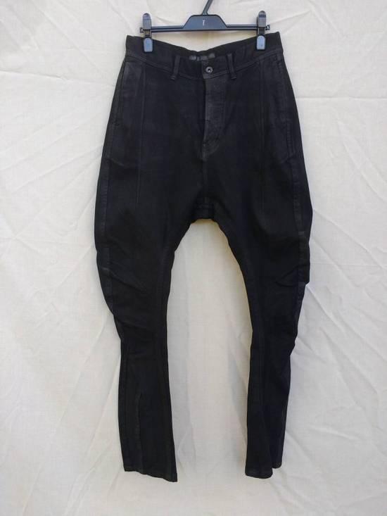 Julius Black Knit Denim Waxed Drop Crotch Jeans Size US 29