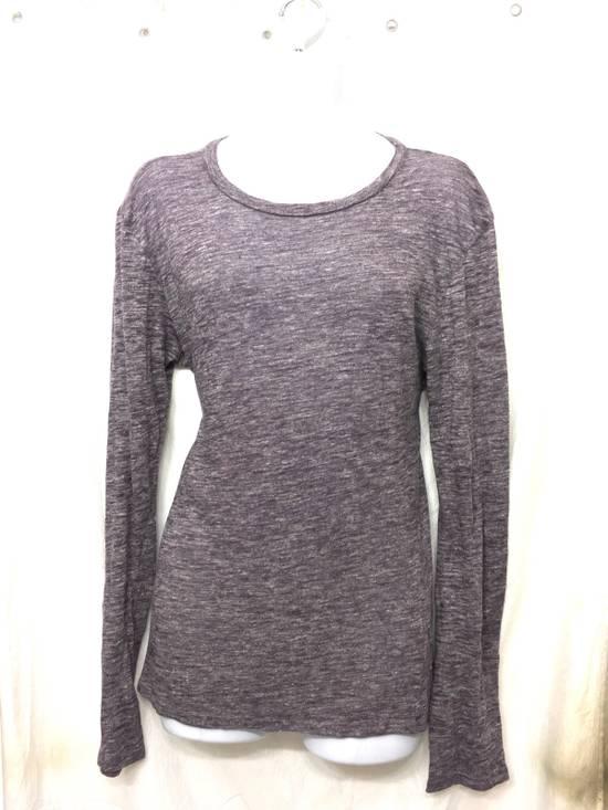 Balmain Balmain Paris Lavender Crewneck Linen Long Sleeve Shirt Size US L / EU 52-54 / 3