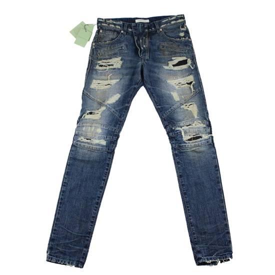 Balmain Pierre Balmain Distressed Moto Biker Jeans Size 32 Made in Italy Size US 32 / EU 48