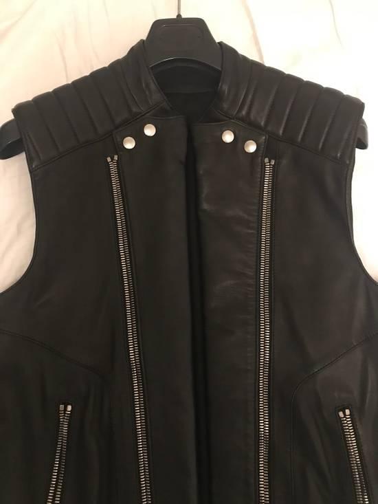 Balmain Leather Sleeveless Biker Jacket Size US M / EU 48-50 / 2 - 2
