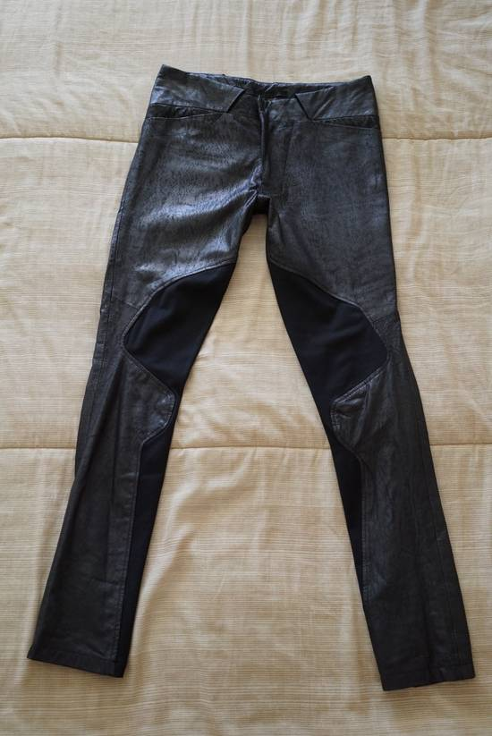 Julius Patterned Leather Racing Pants Size US 30 / EU 46 - 2