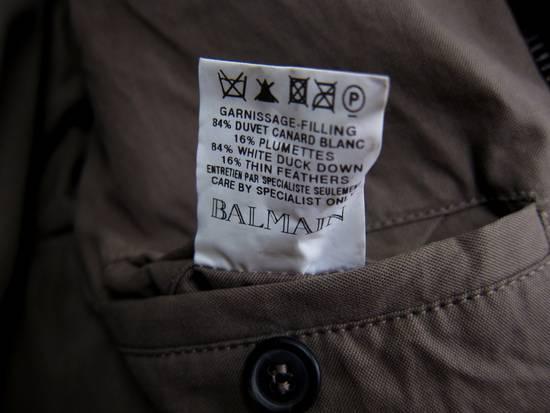 Balmain AW11 Khaki Military Down Jacket sz. 44 Size US XS / EU 42 / 0 - 12