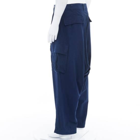 """Yohji Yamamoto YOHJI YAMAMOTO blue cotton dropped crotch exteme wide leg cargo pants JP3 33"""" L Size US 33 - 4"""