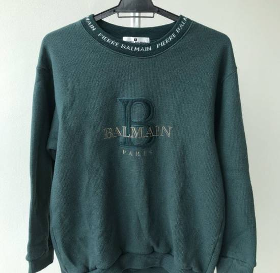 Balmain FREE SHIPPING!!! 100% Authentic Luxury Balmain / Pierre Balmain Embroidery Big Logo Sweastshirt / Balmain Crewneck Pullover Size US M / EU 48-50 / 2 - 1